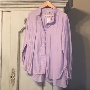 Lavender Long Sleeve Button Down